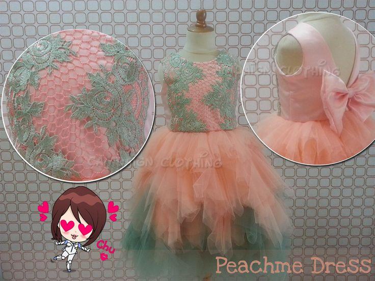 MM225 Peachme Dress for kids 1-12y and Moms. Order by BB 28307189, WA/Line 081-330686508 Mumu Stuff. Merk Campaign Clothing. High Quality. Happy Shopping JBU