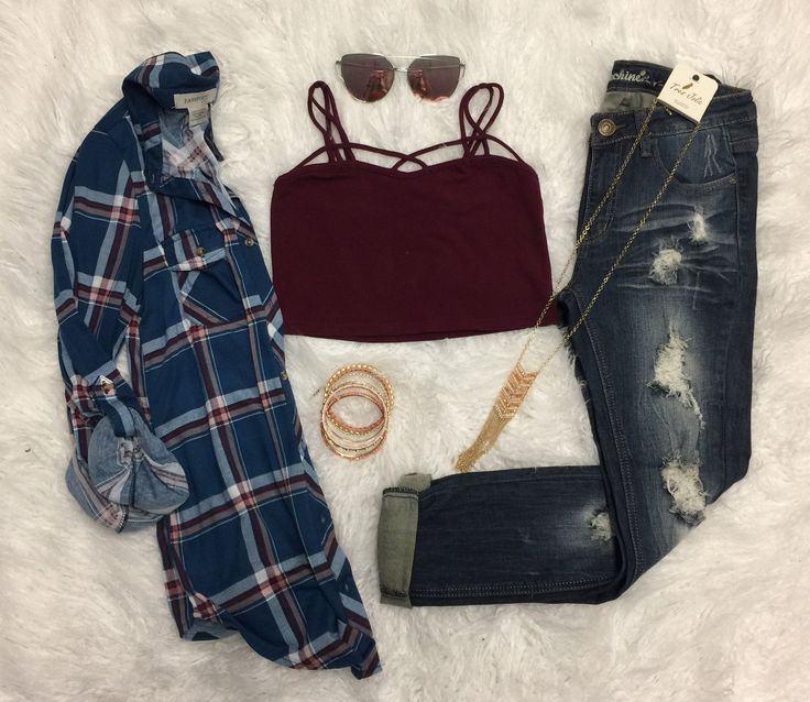 Not So Basic Crop: Burgundy from privityboutique