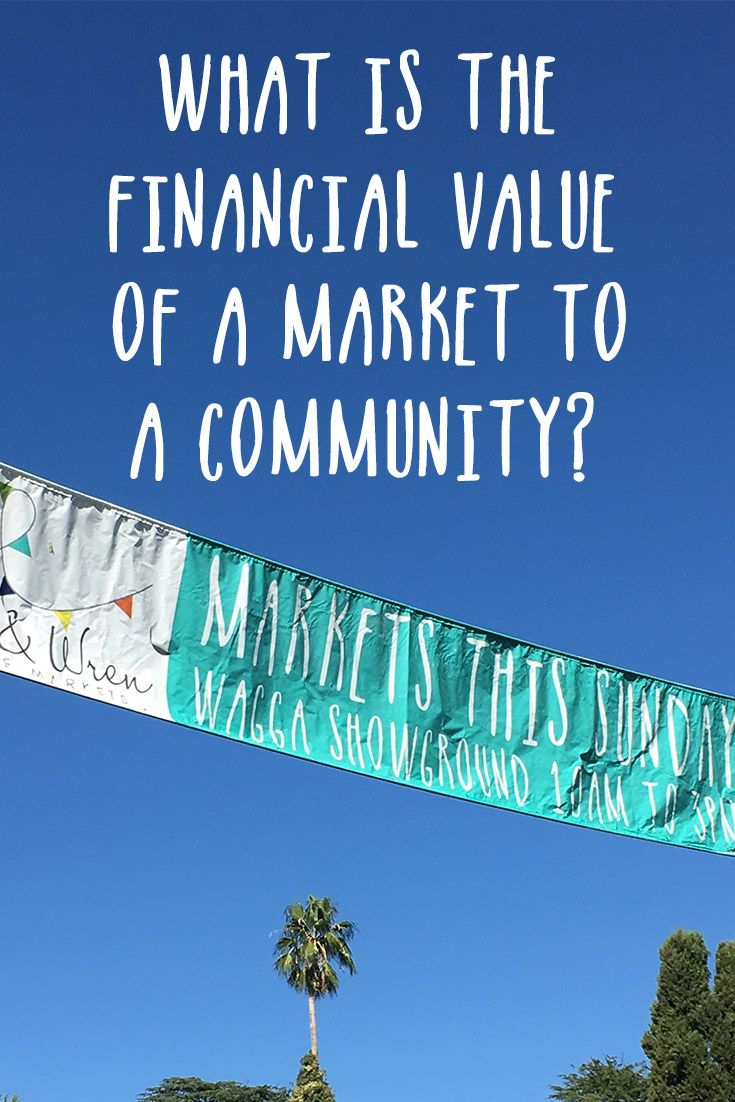 As a market manager, I thought it would be useful to find out the financial benefit our market has to our local community. via @My Market Days