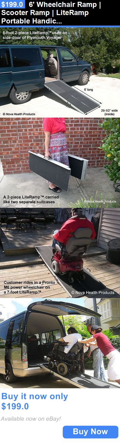 Access Ramps: 6 Wheelchair Ramp | Scooter Ramp | Literamp Portable Handicap Ramps BUY IT NOW ONLY: $199.0