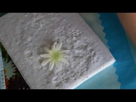 Мастер класс венок из ромашек и гипсофилы 2 - YouTube