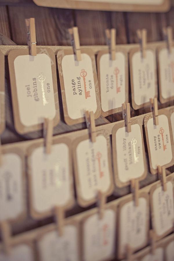 antique keys ~ escort cards