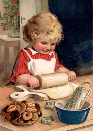Christmas Cookies (1914) Almond Croquettes, Cinnamon Strips, Peanut cookies