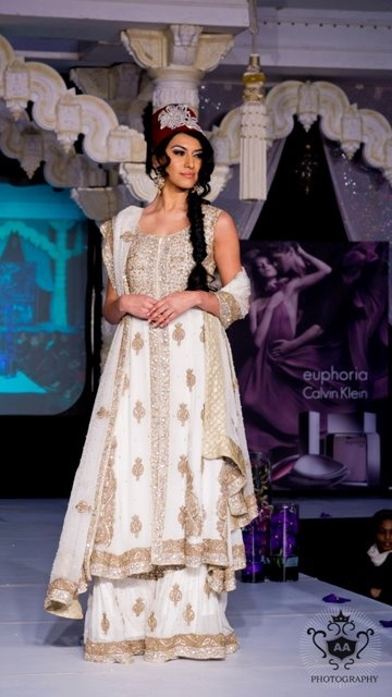 White Gaghra Lengha by CTC West
