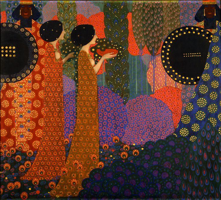 © Vittorio Zecchin (1878-1947) - Vittorio Zecchin était un peintre, illustrateur, designer de verres et de céramiques. Il fut fortement influencé par le travail de Jan Toorop et de Gustav Klimt.