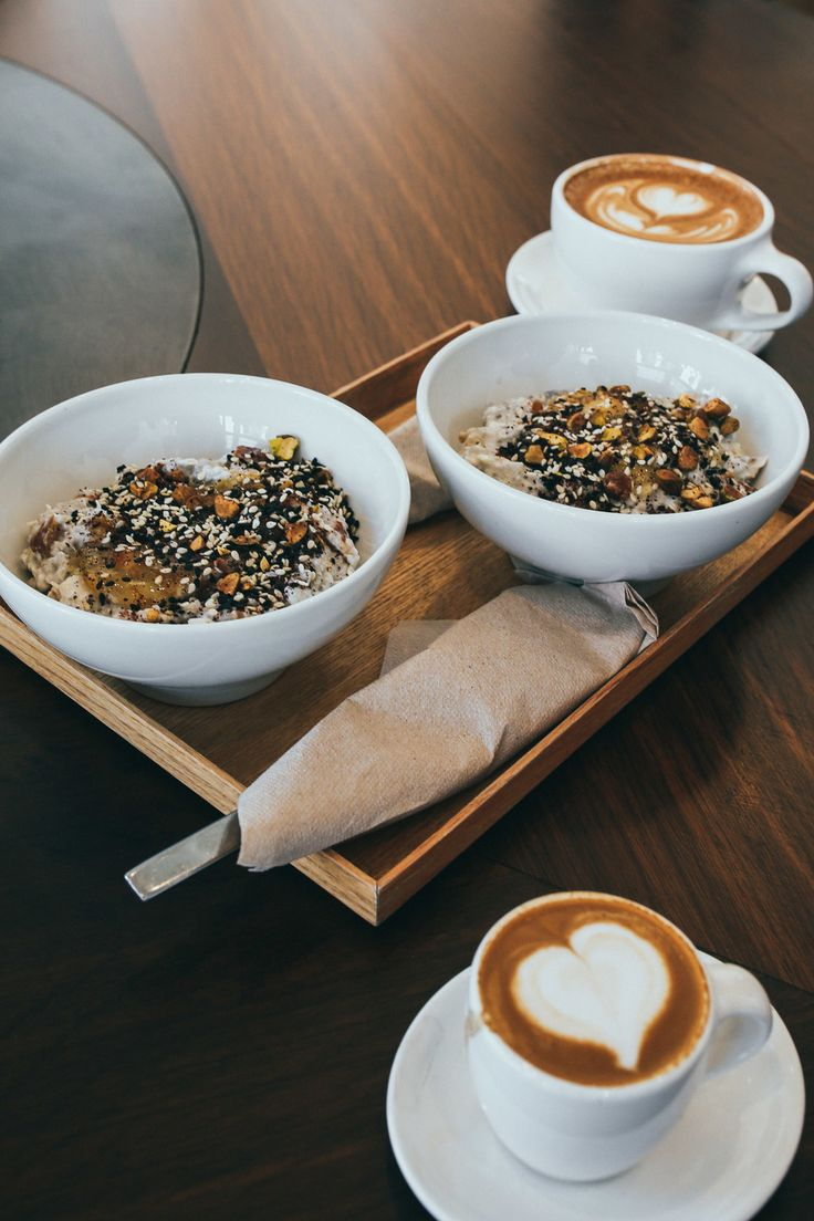Chia bowls and almond milk macchiatos at Blue Bottle Coffee