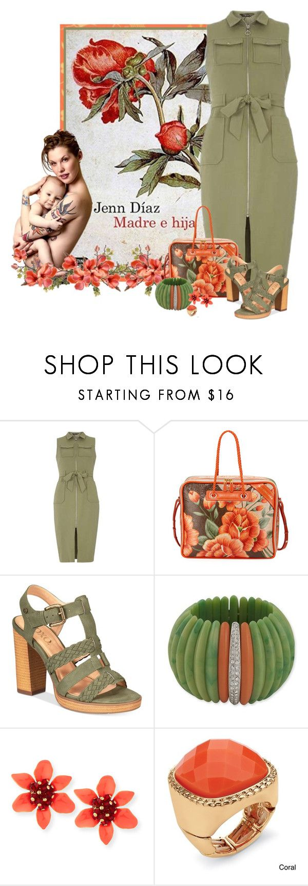 """Madre e hija - Jenn Díaz"" by montse-gallardo ❤ liked on Polyvore featuring Dorothy Perkins, Balenciaga, XOXO, Kenneth Jay Lane and Palm Beach Jewelry"