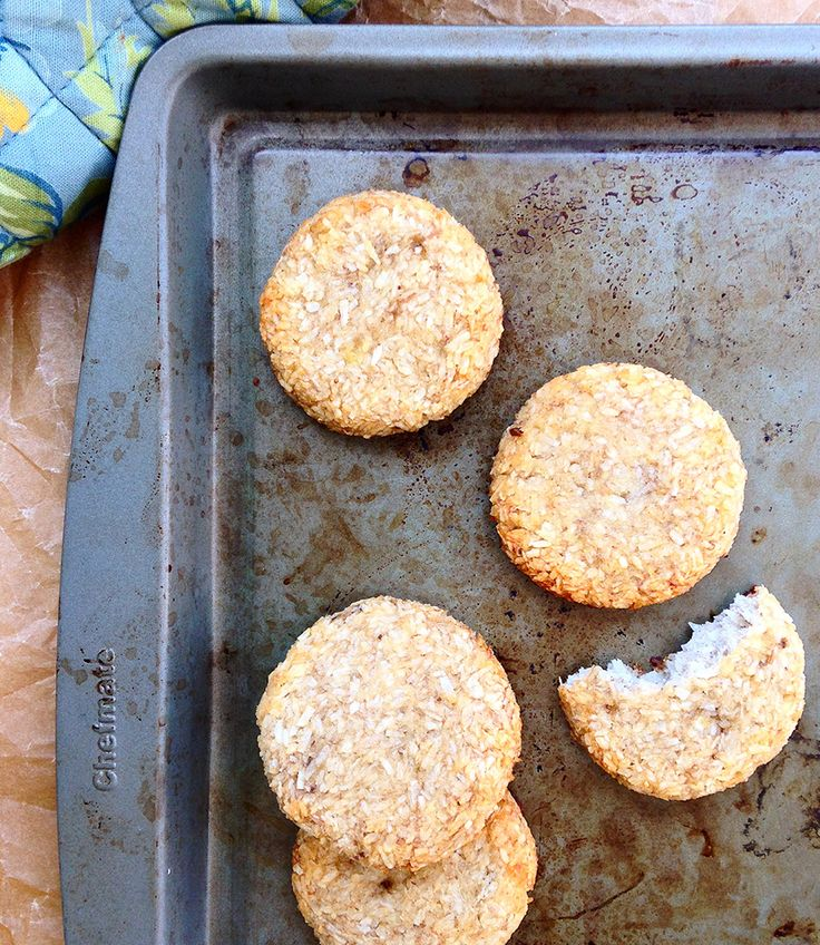 2 Ingredient Banana Coconut Cookies (Grain/Sugar/Dairy/Nut/Egg-Free, Paleo) | GrokGrub.com