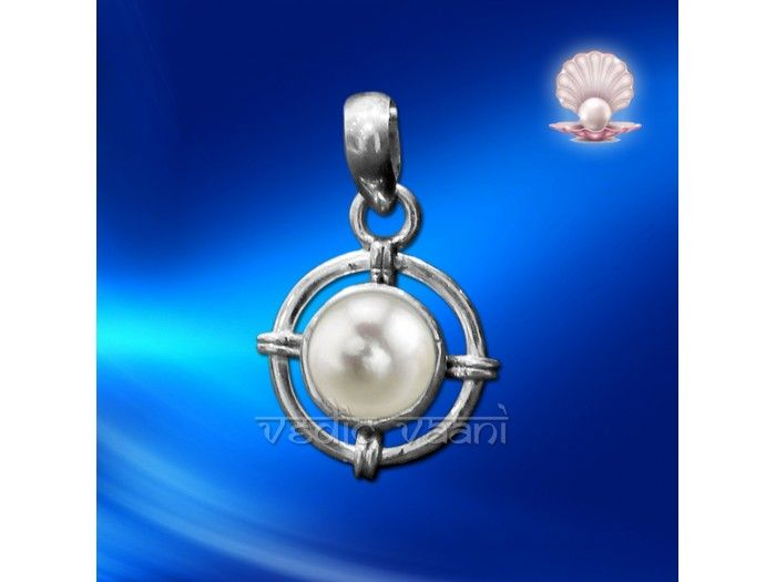 Pearl Locket in Sterling Silver buy online from India from vedicvaani.com . Pearl (Moti) Locket made in sterling silver.  One who wears or possesses a pearl enjoys good fortune and is blessed by the goddess Lakshmi (the goddess of prosperity), lives long and becomes sinless, and obtains vitality and intelligence.