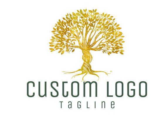 Création de logo personnalisé, logo arbre doré, logo arbre, logo de la nature photographie arbre d'or, la nature Logo, design graphique, logo arbre, arbre de logo personnalisé