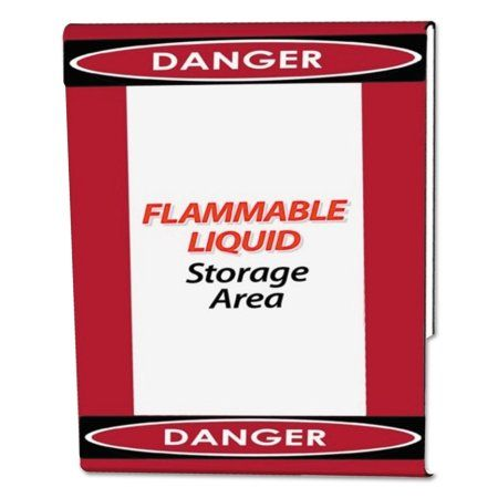 NuDell Clear Plastic Sign Holder with Danger Border, Red/Black/White, 8 1/2 x 11, Multicolor