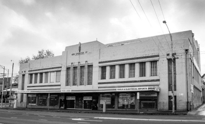Spencer Street, West Melbourne residential site offering with art deco facade