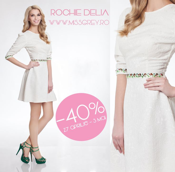 Short white day drss with precious application of gemstones, perfect for a delicate and fresh outfit: https://missgrey.ro/ro/home/rochie-delia/290?utm_campaign=reduceri_saptamanale&utm_medium=rochie_delia&utm_source=pinterest_produs