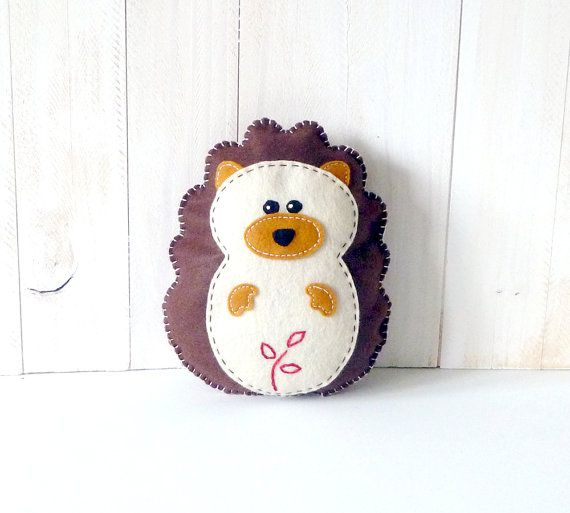 Stuffed Hedgehog PATTERN // Sew by Hand Plush Felt Stuffed Animal PDF // Suitable for Beginners