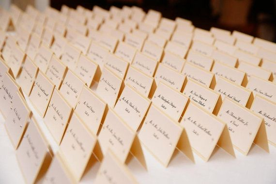 Custom Wedding Place Cards or Escort Cards, crystals, vintage, champagne, ivory, cream, white