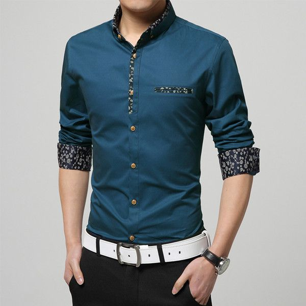 Plus size brand clothing 2016 spring Mercerized cotton men's long-sleeved shirt camisas Business casual fashion Slim shirt 5xl