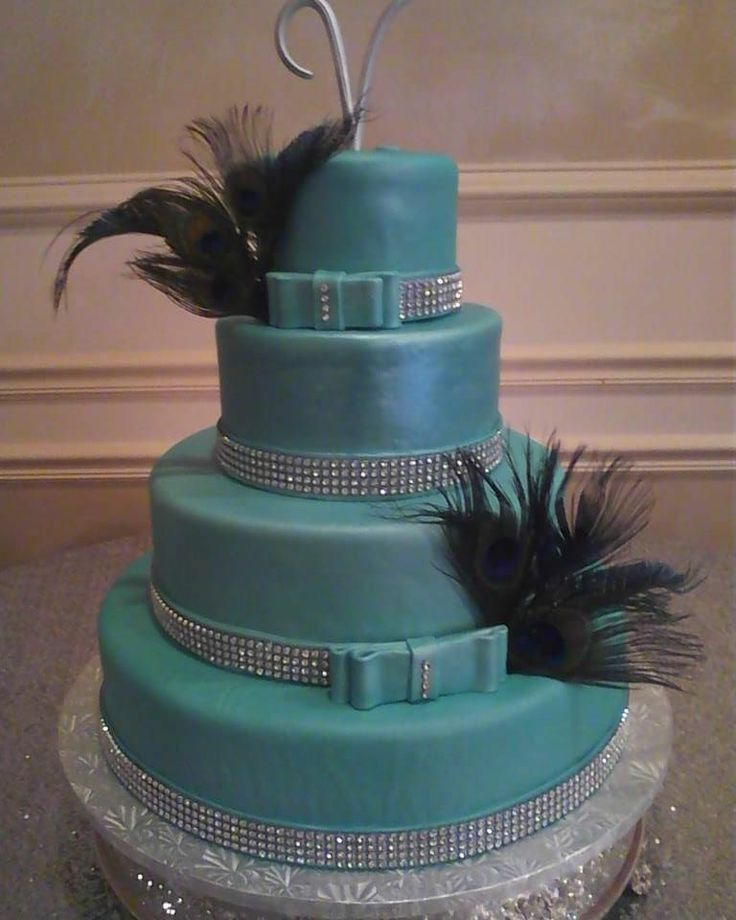 Tiffany Blue Wedding Cake!