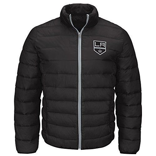 NHL Los Angeles Kings Men's Skybox Full Zip Packable Jacket, Black, Large
