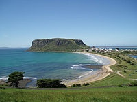 The most distinctive landmark in Stanley is The Nut, an old volcanic plug discovered by the explorers Bass and Flinders in 1798, who officially named it Circular Head. It has steep sides and rises to 143 metres with a flat top. It is possible to walk to the top of The Nut via a steep track or via a chairlift.