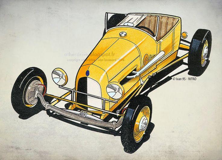 603 best images about ivan brossard cars illustrations for Garage ford cholet