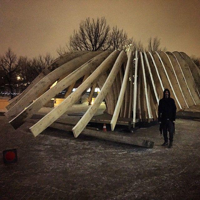 #SneakPeak #WarmingHut #Winnipeg photo by @Salvador.ch #TheHybridHut
