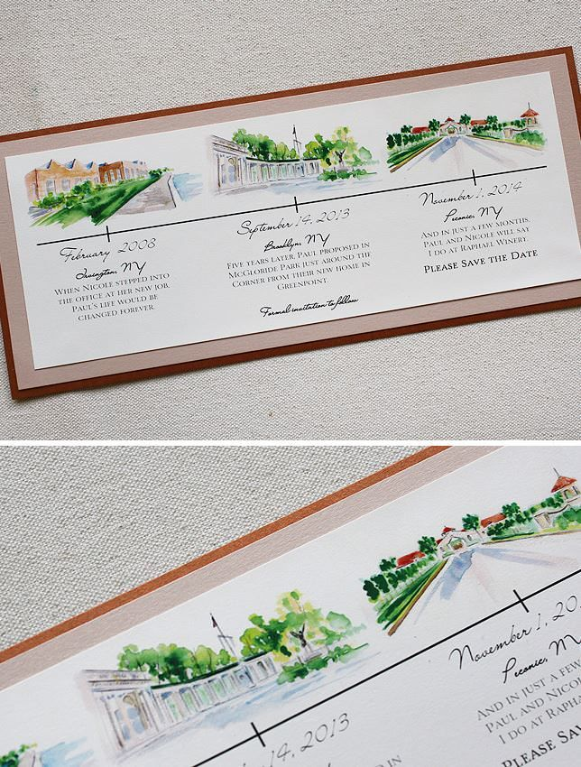 save the date wedding stationery uk%0A Nicole Z   Watercolor Vineyard Wedding Invitations