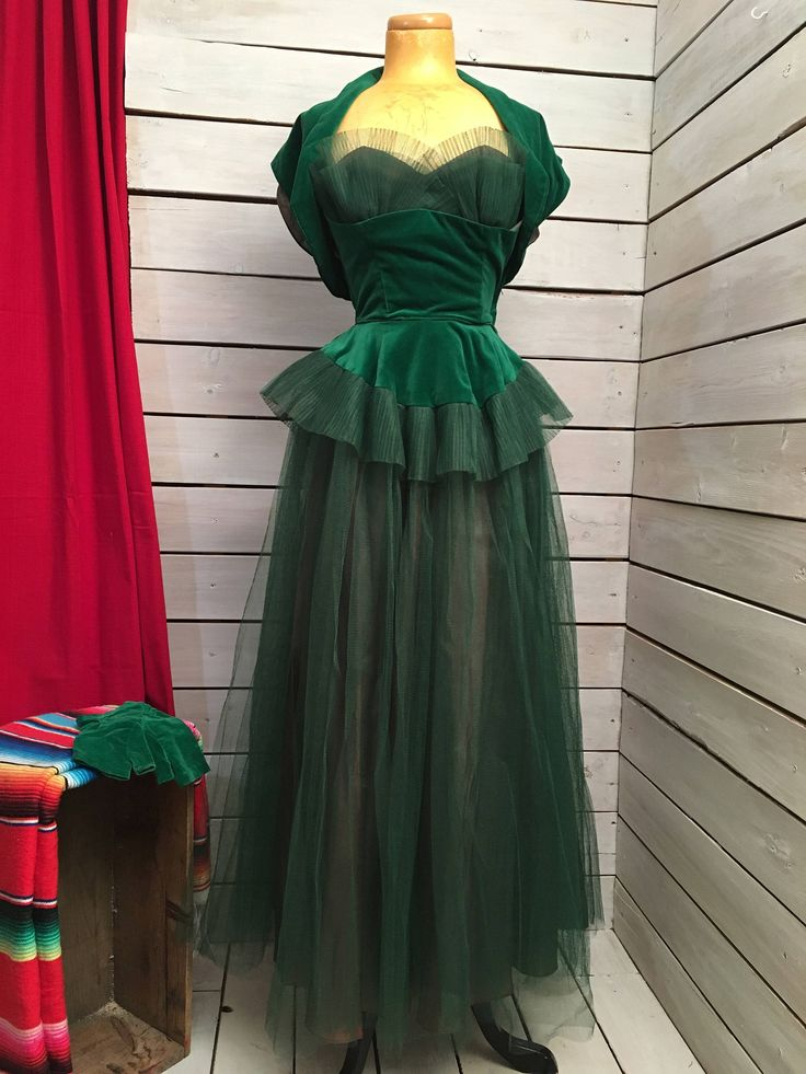 40s dress // vintage 1940s dress // enchanting three piece vevlet and tulle ball gown by Sheilasbombshell on Etsy https://www.etsy.com/ca/listing/582415427/40s-dress-vintage-1940s-dress-enchanting