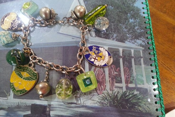 Charm bracelet. Bespoke ,upcycled. Handmade by florieandme