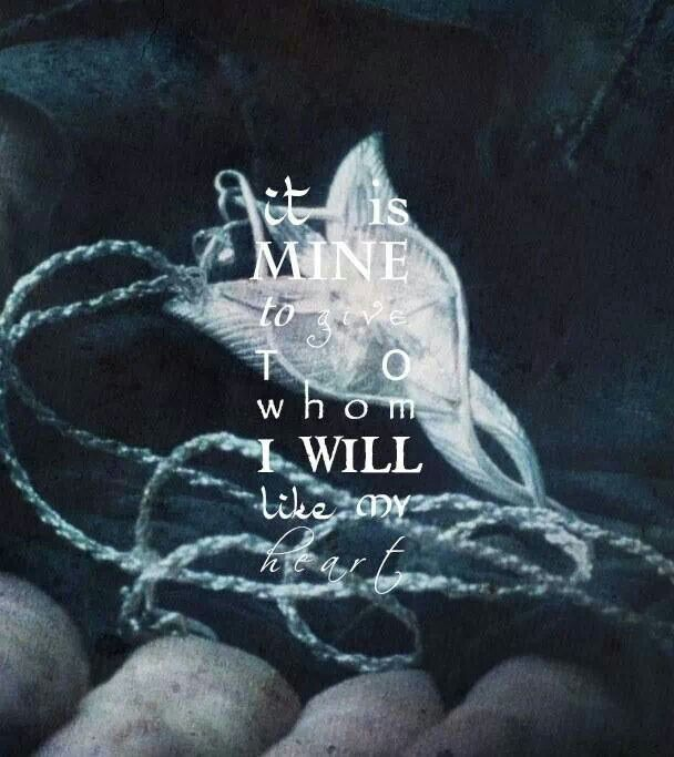It is mine to give to whom I will, like my heart.