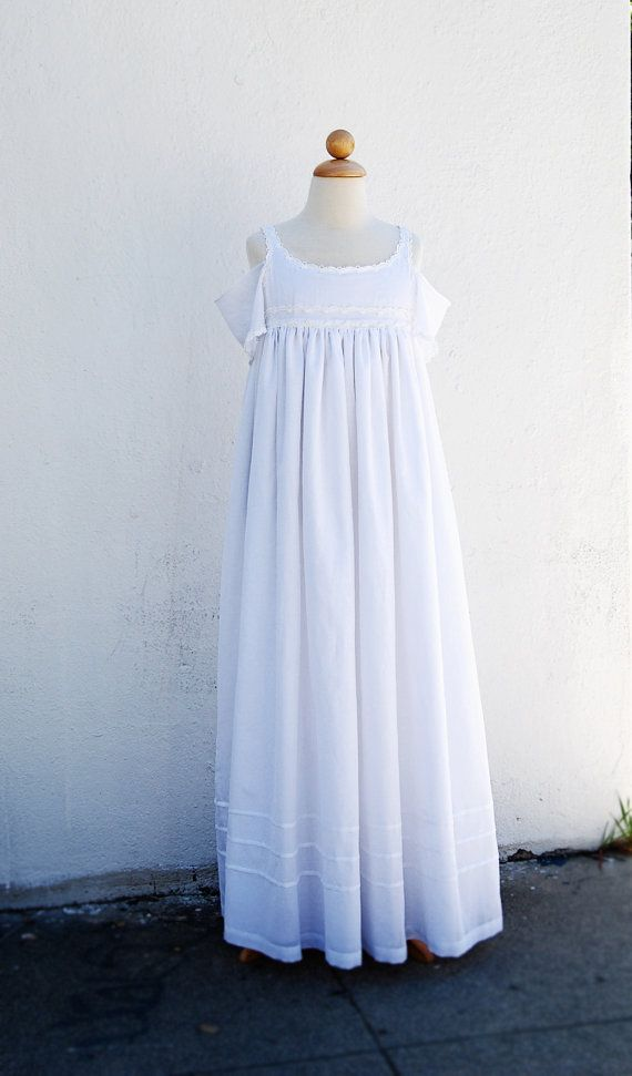 Sample Sale Natural Silk and Cotton Junior Bridesmaids by FoxnLily, $140.00
