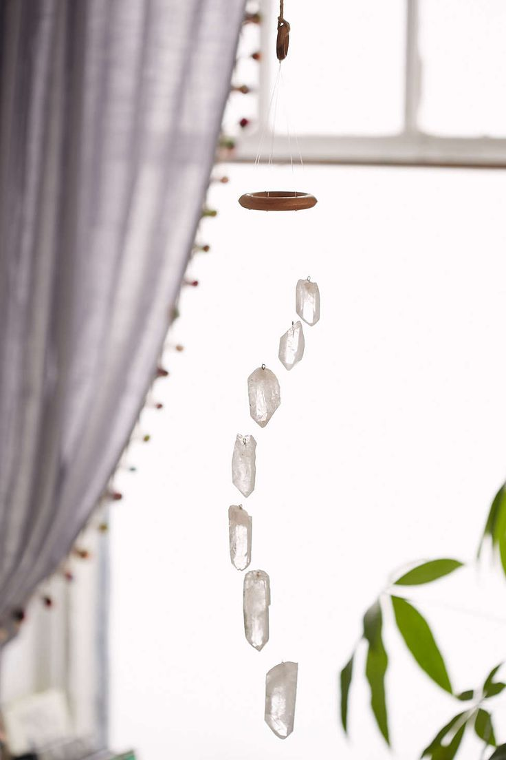 This seems like it would be really easy to DIY. White Quartz Crystal Mobile - Urban Outfitters