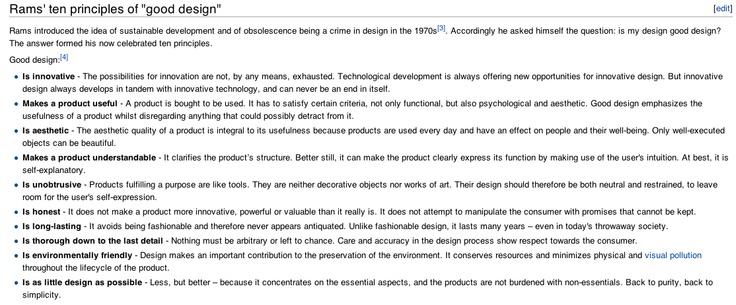 Rams 10 principles of GOOD DESIGN