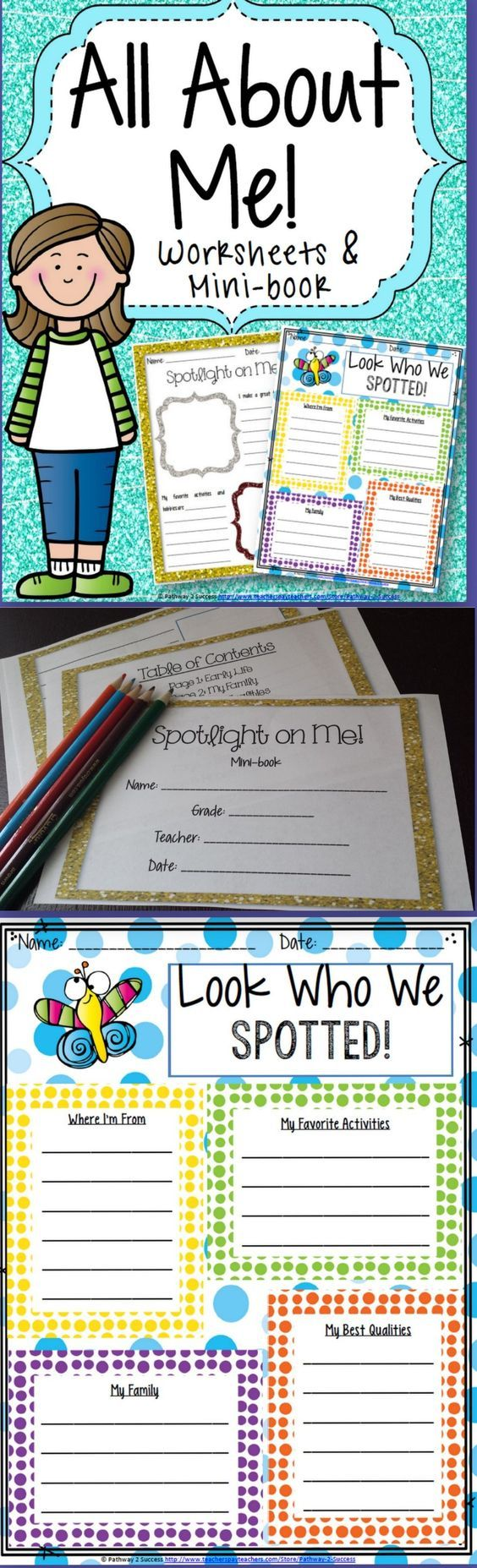 All About Me - Back to School Worksheets & Mini-Book