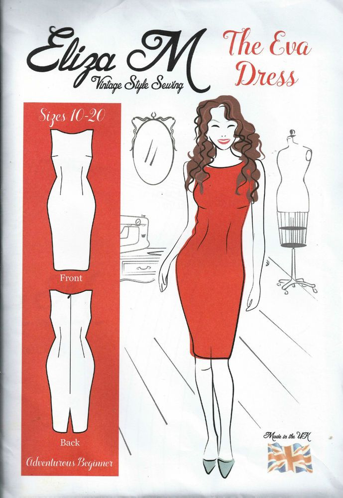 Eliza M Vintage Style Sewing - The Eva Dress.  Sizes 10-20 Unused and unopened