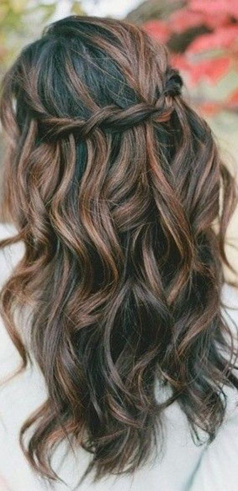the 25 best wedding hairstyles long hair ideas on pinterest bridesmaid long hair grad. Black Bedroom Furniture Sets. Home Design Ideas