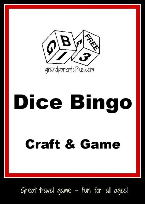 This simple Dice Bingo Game is easy to make and fun to play with one or more players. It is simple enough for young children age 4 up to adults! There is no caller and everyone plays. It is even played as a solitary game. It makes a great travel game, too!