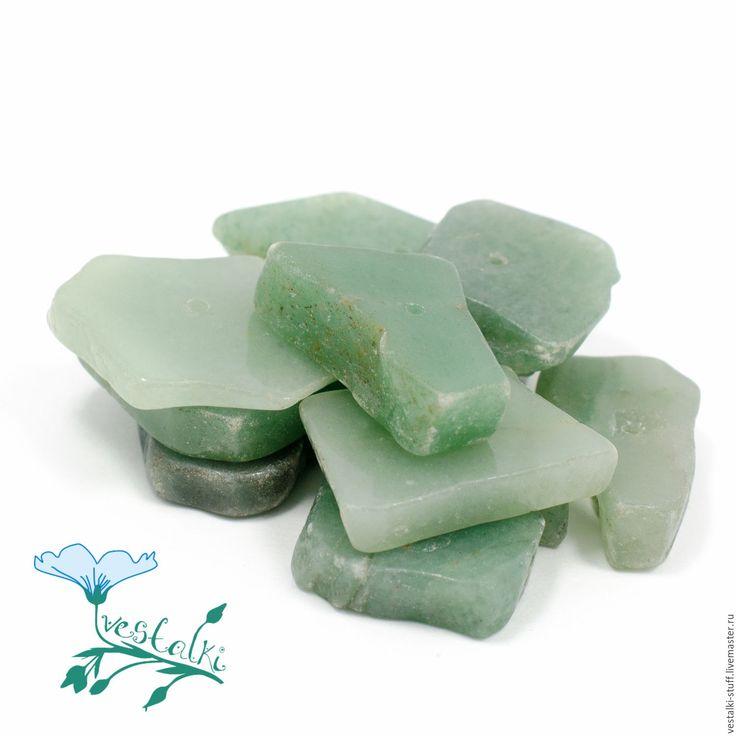 Купить Авантюрин зелёный необработанный - тёмно-зелёный, авантюрин, авантюрин зеленый, зеленый авантюрин