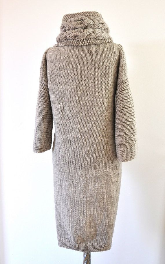 Sweater Cardigan Cowl Sweater Jacket Coat Tunic by reflectionsbyds