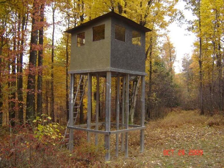 4x8 deer blind plans pictures to pin on pinterest pinsdaddy for Building deer blind windows