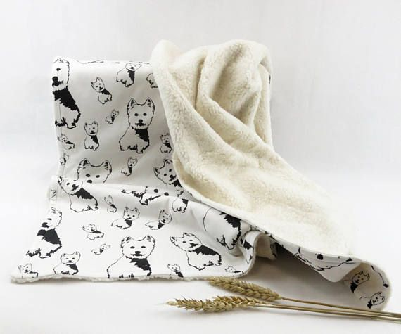 Organic Plush And Organic Cotton Baby Blanket With West