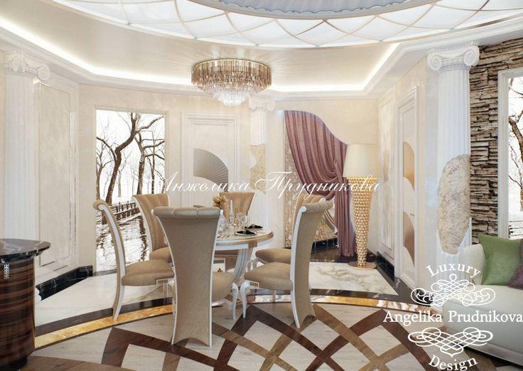 Дизайн интерьера гостиной квартиры в ЖК Триколор - фото