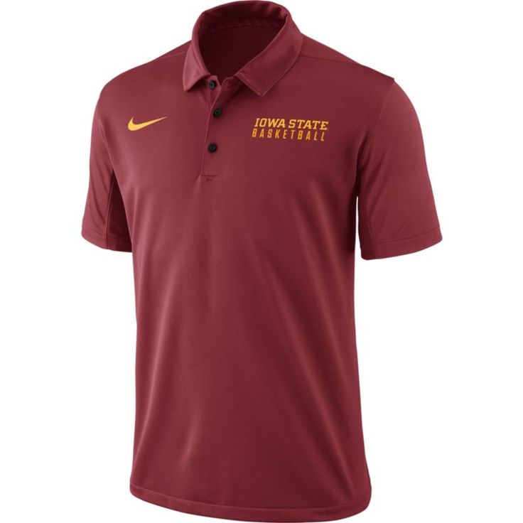 Nike Men's Cardinal Iowa State Cyclones Basketball Polo, Size: Small, Team