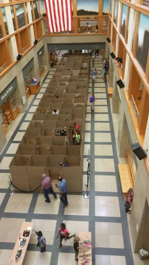 Denver Public Library Harry Potter Triwizard Cardboard Maze!
