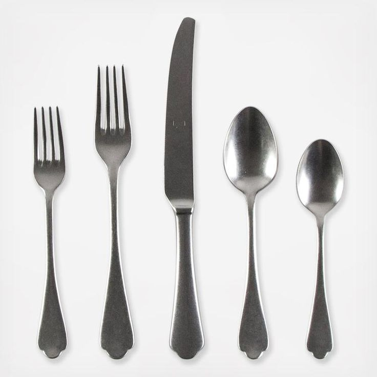 Inspired by baroque art shapes, this stainless steel flatware set combines tradition with modernity. Add it to a simple dinnerware set for a touch of old-world glamiour or match it with a more elaborate rustic design to evoke coutnry chic. Service for 1 includes: 1 Knives 1 Dinner forks 1 Dessert Fork 1 Table spoons 1 Teaspoons