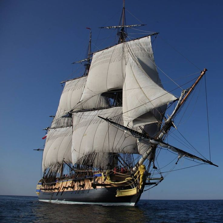 French Tall Ship Hermione.