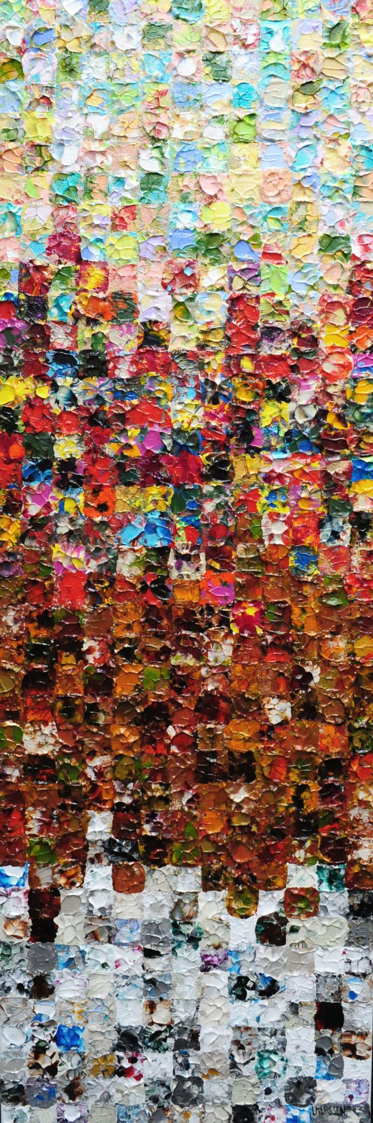 Four Seasons, Acrylic on canvas, 36 x 12 inches