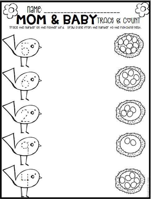 Spring math and literacy printables and worksheets for