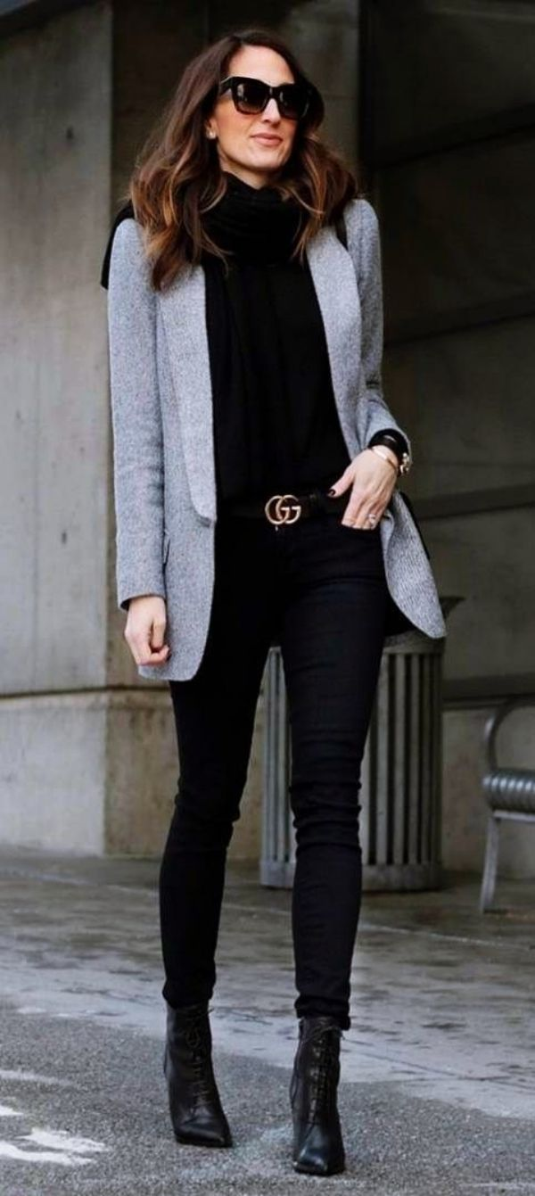45 Stylish Blazer Outfits for Business Women 2018 11
