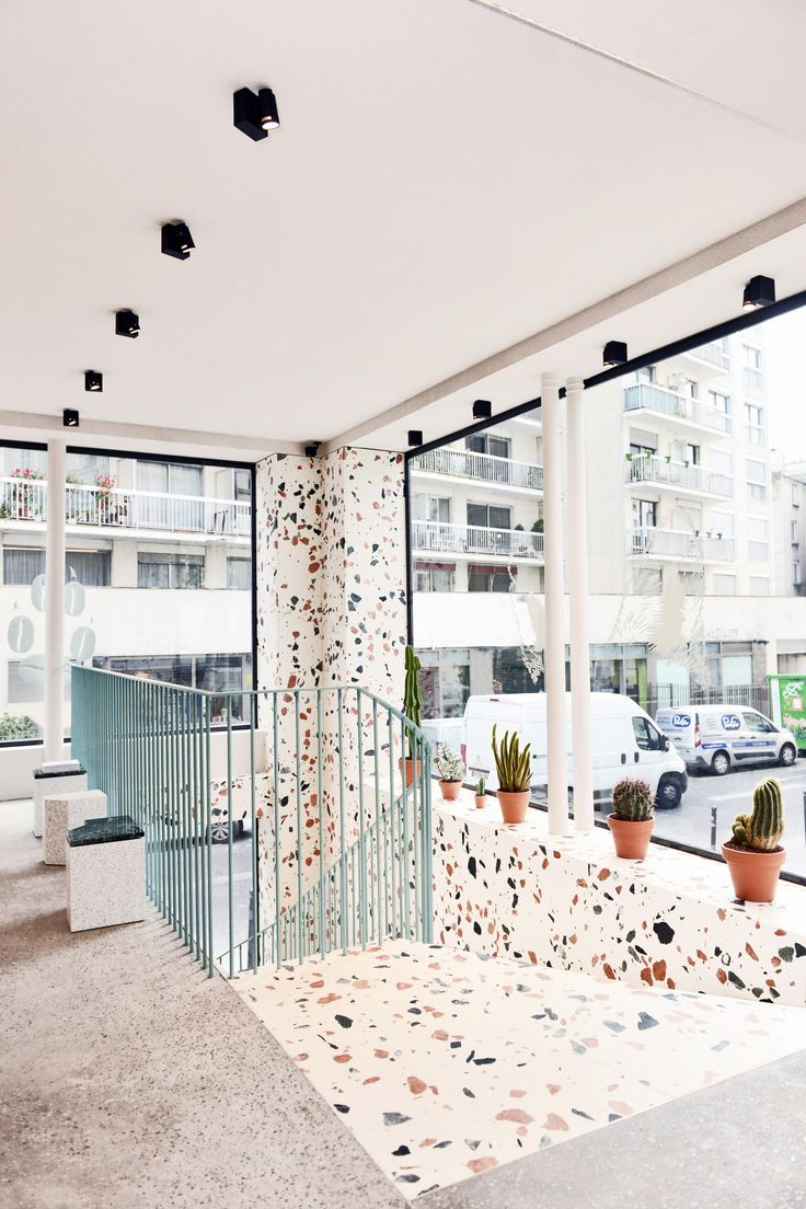 For its fourth Paris store, Maison Kitsuné—the French clothing brand created by former Daft Punk manager Gildas Loaëc and Japanese architect Masaya Kuroki—commissioned architecture firm HA-AU to create a lively space to house its clothing and downstairs café. | archdigest.com
