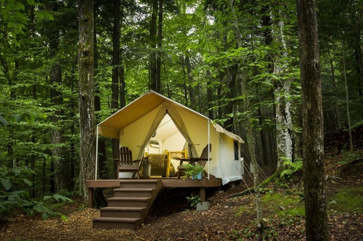 "A growing number of ""glamping"" resorts in Upstate New York offer the grandeur of the great outdoors with all the amenities of luxury lodging."